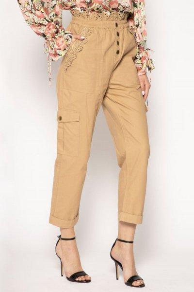 Pantalones TWINSET De Lona Con Bordado Inglés 201TP2017