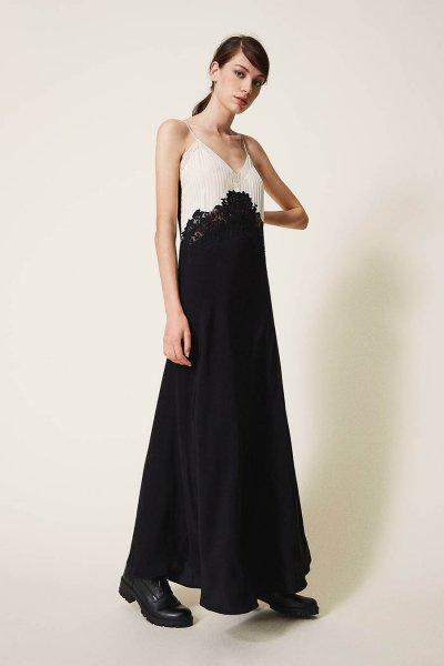 Vestido TWINSET Largo Con Encaje 202TP2121