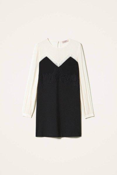 Vestido TWINSET Bicolor Con Encaje 202TP2311