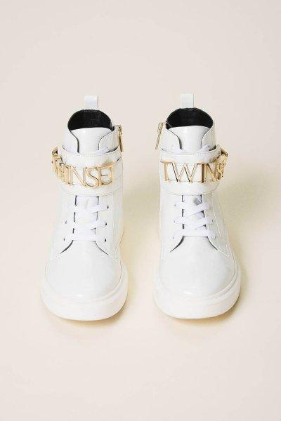 Sneakers TWINSET Altas Con Logotipo 202TCP030