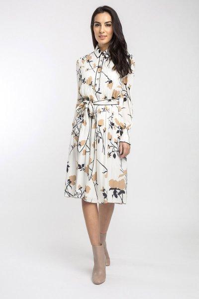 Vestido ALBA CONDE Crudo Estampado 5402-121-11