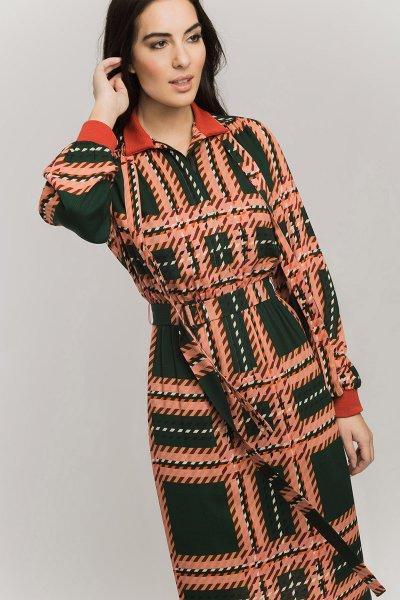 Vestido ALBA CONDE Cuadros Verde 5410-146-22
