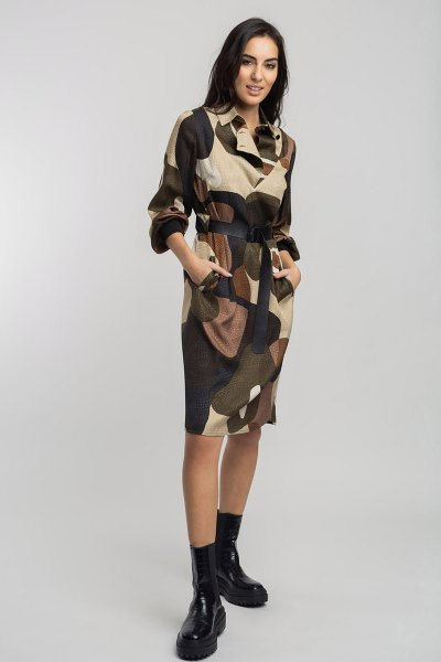Vestido ALBA CONDE Print Camuflaje 5400-144-24