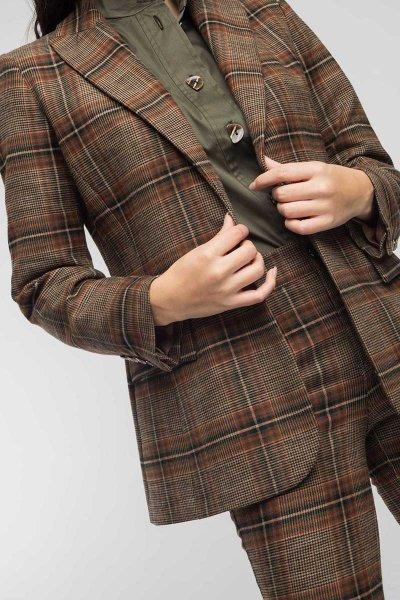 Blazer ALBA CONDE Cuadros Cuello Solapa 5106-135-63