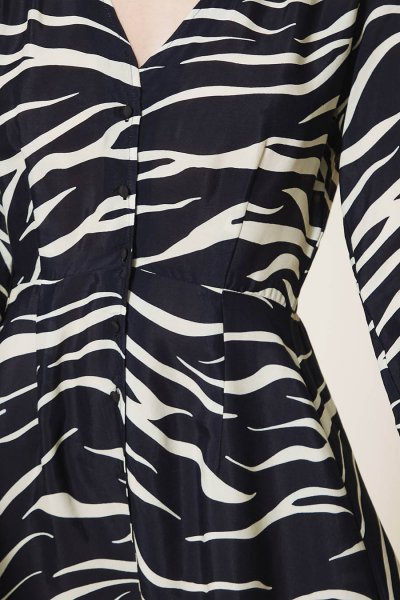 Vestido TWINSET De Crespón De China Animal Print 202MP2433