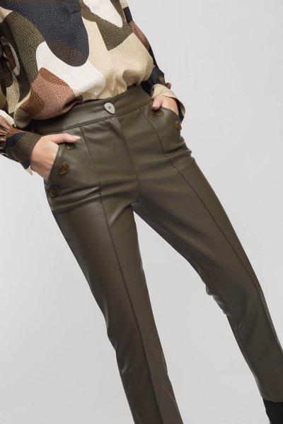 Pantalón ALBA CONDE De Piel Con Botones 5569-122-24