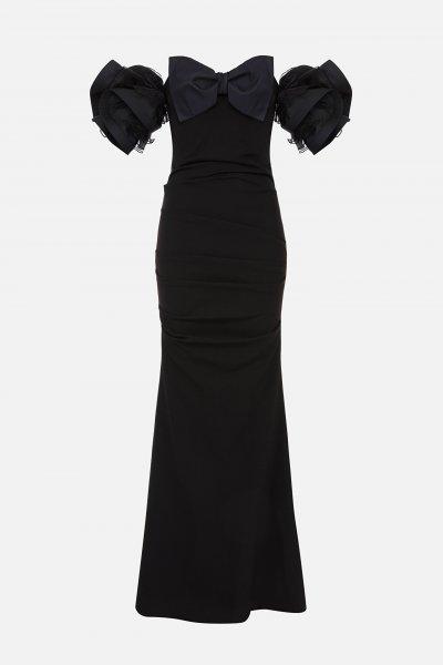 Vestido ELISABETTA FRANCHI Lazo y Mangas Abullonadas AB02106E2