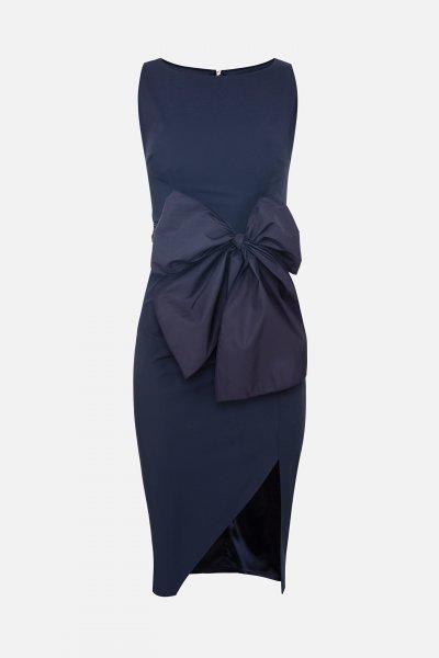Vestido ELISABETTA FRANCHI Marino Lazo AB01806E2