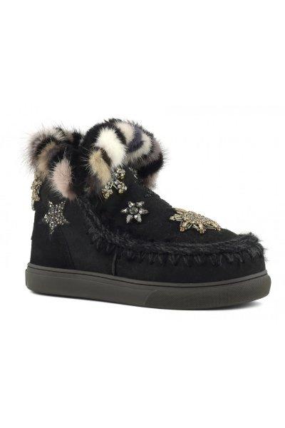 Sneaker MOU Eskimo Star Patch & Mink Black