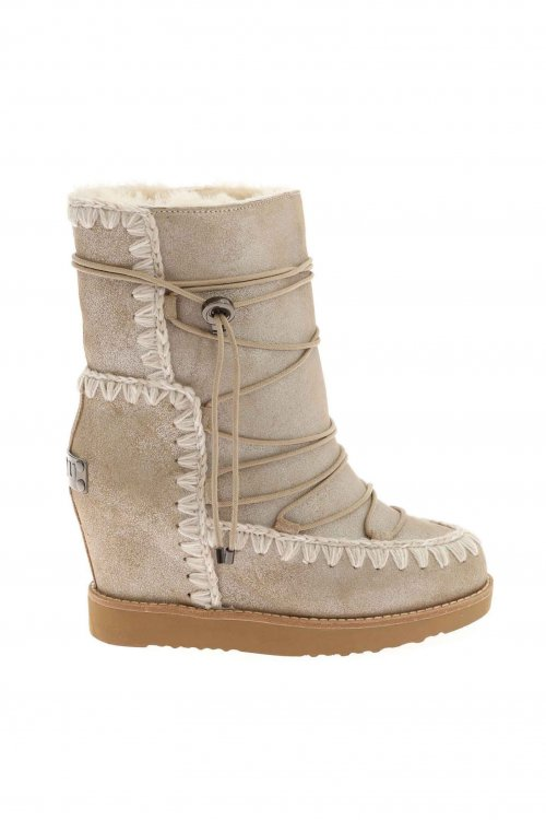 Botas MOU French Toe Wedge Short Stone Metallic MU.FTWESKISHO STME