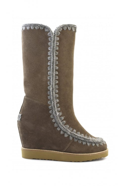 Botas MOU Eskimo French Toe Tall Marrón