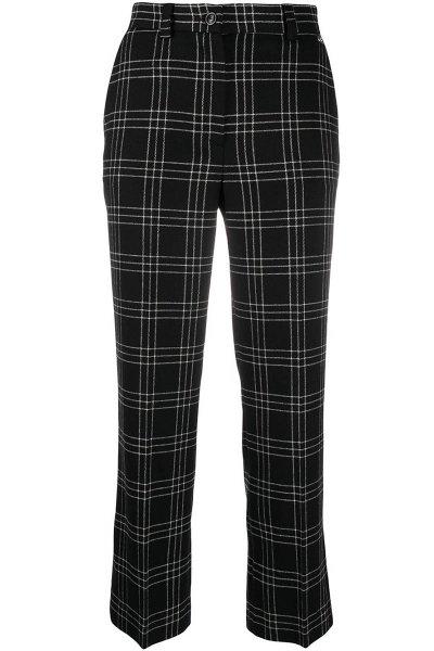 Pantalón TWINSET Cropped De Lana Mixta De Cuadros 202TP254C