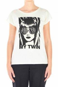 Camiseta TWINSET Retrato Strass 202MP241A