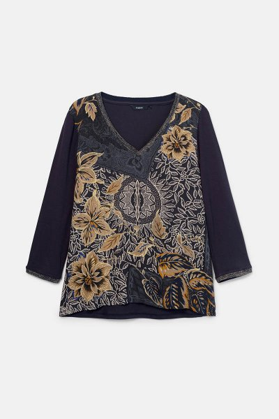 Camiseta DESIGUAL Idaho Floral Boho 20WWTKA75000