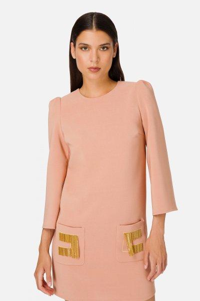 Vestido ELISABETTA FRANCHI Saco Logotipo AB04206E2