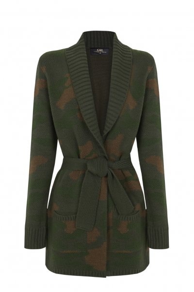 Cardigan GUTS & LOVE Camo Knit Jacket M-20-3-005
