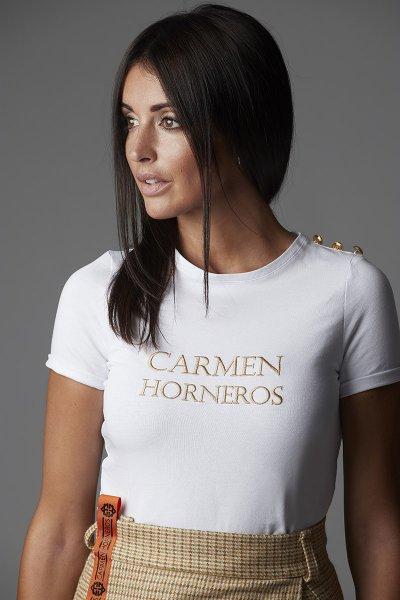 Camiseta CARMEN HORNEROS Logo Botones 20CH006