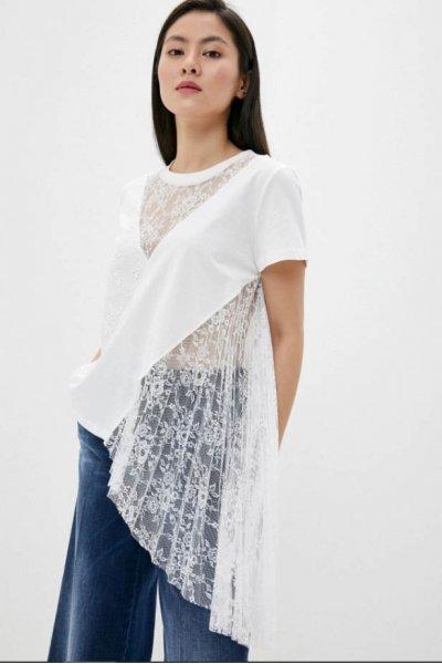 Blusa TWINSET Asimétrica Plisada 201MT2050