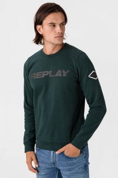 Sudadera REPLAY Logo Reflectante M3220