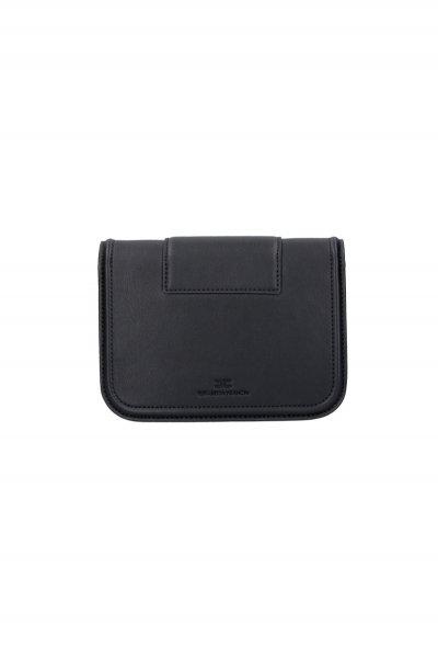 Bolso ELISABETTA FRANCHI Mini Sobre Maxi Logotipo Negro BS80A06E2