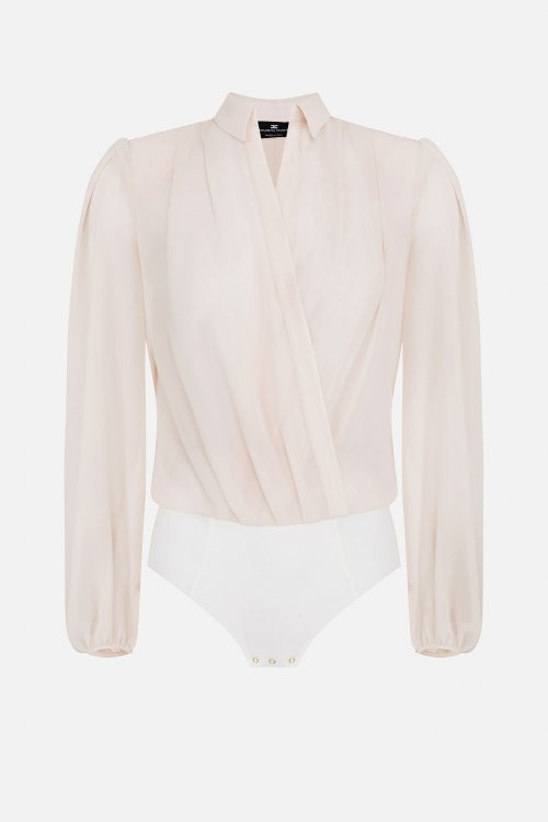 Camisa Body ELISABETTA FRANCHI Mangas Abullonadas CB00906E2