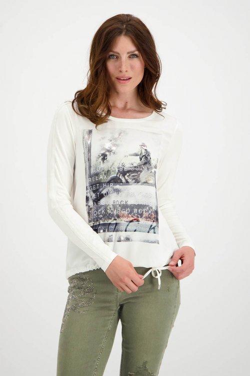 Blusa MONARI Blanca Con Estampado 804760