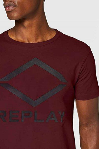 Camiseta REPLAY Burdeos Logo M3197 22982P