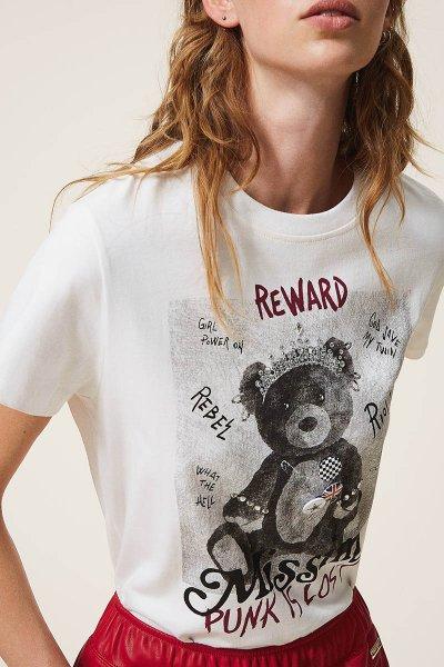 Camiseta TWINSET Con Estampado Y Broches 202MT2303
