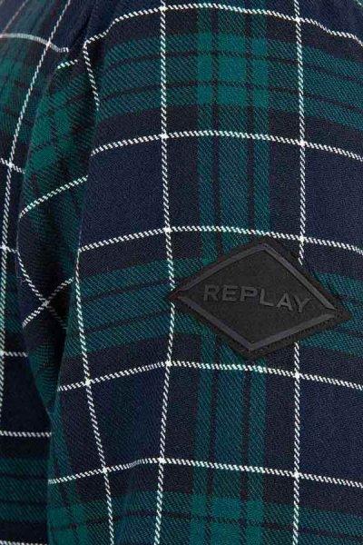 Camisa REPLAY Verde Forrada M4035 52342