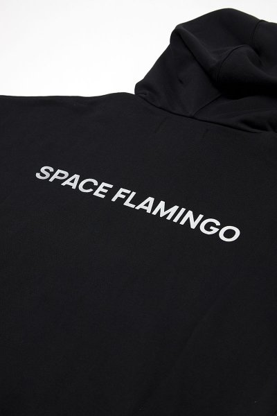 Sudadera SPACE FLAMINGO Negra Capucha SP E029
