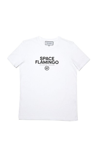 Camiseta SPACE FLAMINGO I White SF E040