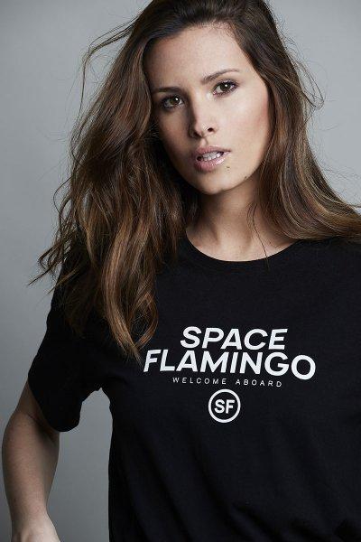 Camiseta SPACE FLAMINGO I Black SF E039