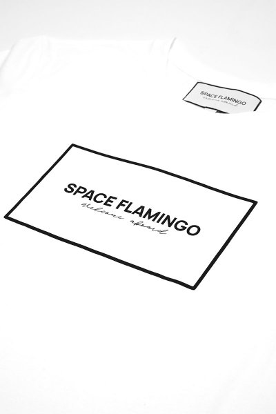 Camiseta SPACE FLAMINGO II White SF E042