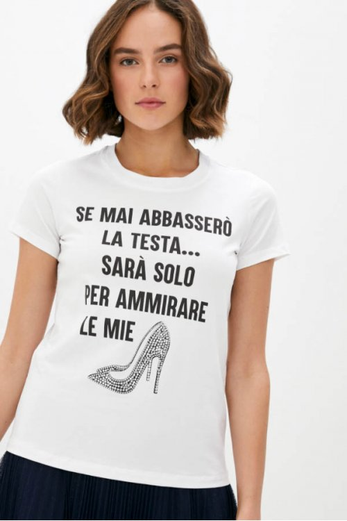 Camiseta TWINSET Zapato Strass 202MT2302