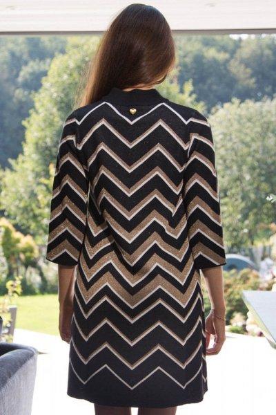 Vestido TWINSET De Punto Estampado Geométrico 202TT3060