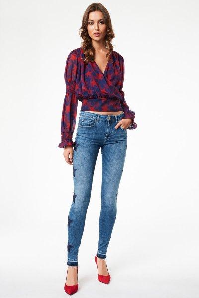 Jeans DENNY ROSE Bordado Estrellas 021ND26008