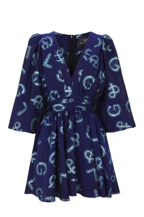 Vestido GUTS & LOVE Shine Bright Azul V-20-0-043
