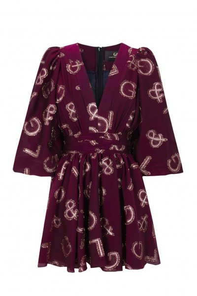 Vestido GUTS & LOVE Shine Bright Burgundy V-20-0-043