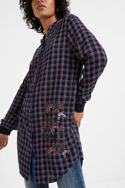 Blusa DESIGUAL Kerala Tartán Flores 20WWCW805001