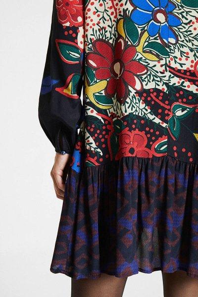 Vestido DESIGUAL Bolonia Corto Falda Volantes 20WWVW893007