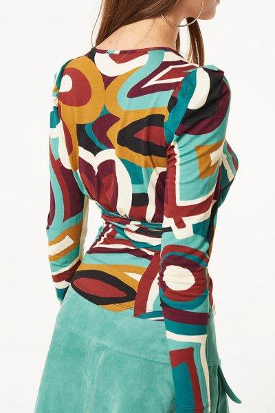 Camiseta DENNY ROSE Con Drapeado 021DD60002