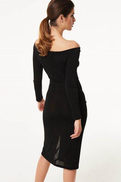 Vestido DENNY ROSE Midi Abertura 021DD10030