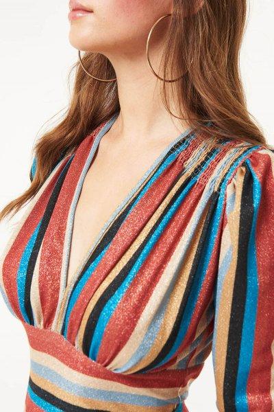 Vestido DENNY ROSE Lúrex Pliegues 021DD10046