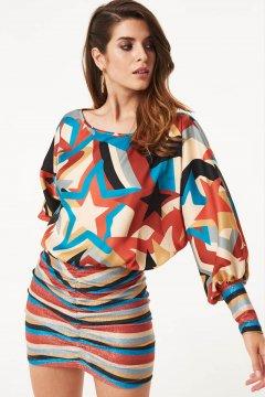 Vestido DENNY ROSE Drapeado Con Estrellas 021DD10052
