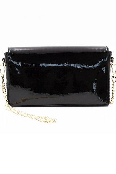 Bolso DENNY ROSE Negro Ecopiel Con Brillo 021DD9004