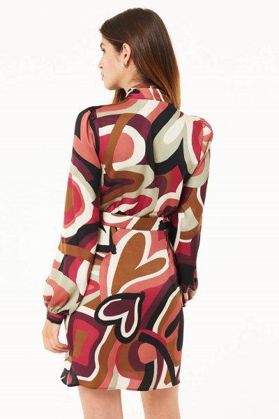 Vestido DENNY ROSE Estampado Corazones Lazo 021DD10005