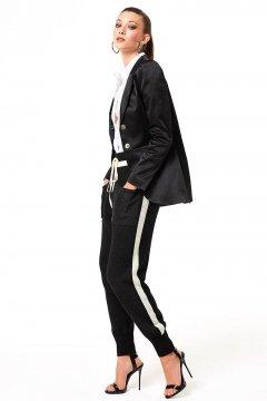 Pantalón DENNY ROSE Negro De Lana 021DD50024