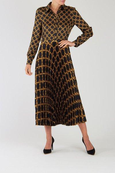Vestido TWINSET Plisado Con Estampado De Cadenas 202TT2213