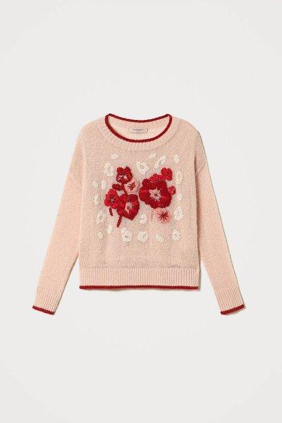 Jersey TWINSET De Mohair Mixto Con Bordado Floral 202TP3430