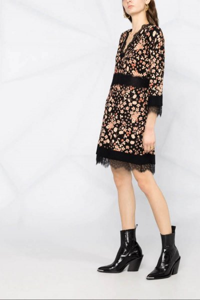 Vestido TWINSET De Flores Con Encaje 202TP3502